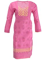Chopra Enterprises Women's Cotton kurti (Ceckp02, Magenta, 40)