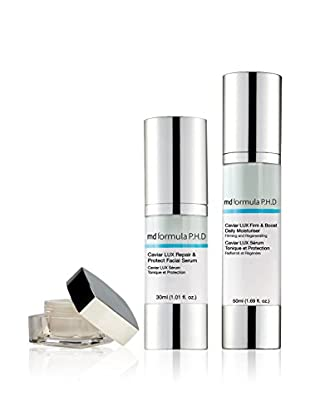 MD FORMULA  Beauty-Set 3 tlg. Caviar Lux Repair&Protect Facial Serum, Caviar Lux Firm & Boost Daily Moisturizer, Caviar LUX Lift & Revive Overnight Eye Treatment