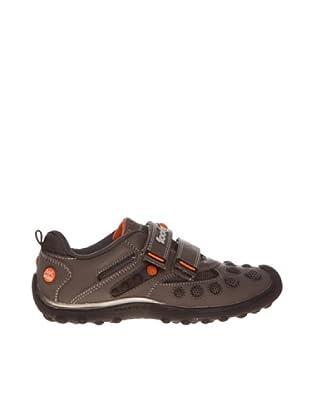 Footgol Sneakers Doppelklett (Orange/Braun)