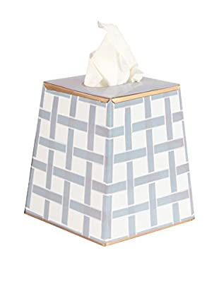 Jayes Basketweave Tissue Box Cover, Grey