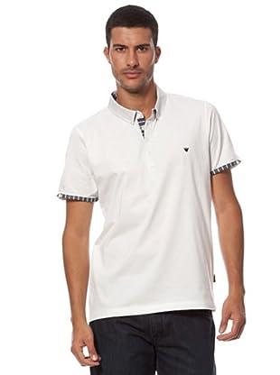 Caramelo Basic-Poloshirt (Weiß)