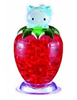 3D Crystal Puzzle, Hello Kitty Strawberry
