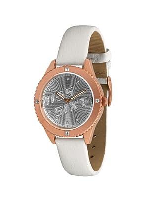 Miss Sixty Just time SN8003 - Reloj de mujer de cuarzo, correa de piel color blanco