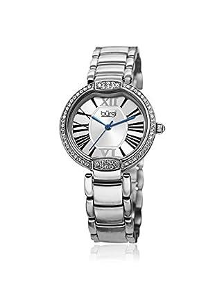 Burgi Women's BUR101SS Crystal Silver-Tone Stainless Steel Watch