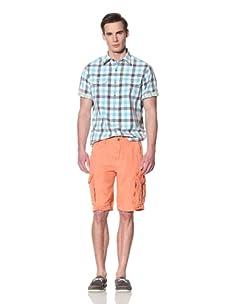 Tailor Vintage Men's Linen Cargo Short (Coral)