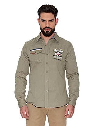 Geographical Norway Camisa Hombre Zactica Men Ls 404 (Caqui)