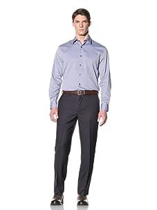 Perry Ellis Men's Mini Railroad Stripe Pant (Navy)