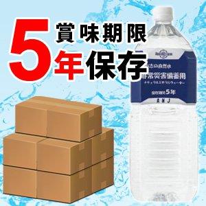 【志布志の自然水 非常災害備蓄用 2L×6本 (5年保存水)