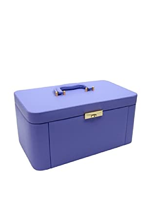 Morelle & Co. Alexis Leather Large Two Side Pullout Jewelry Box, Violet Tulip
