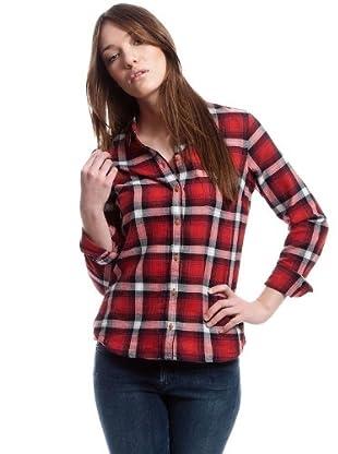 Lee Camisa Chill Slim (rojo / negro / blanco)