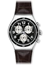 Swatch Analog Black Dial Men's Watch - YVS400