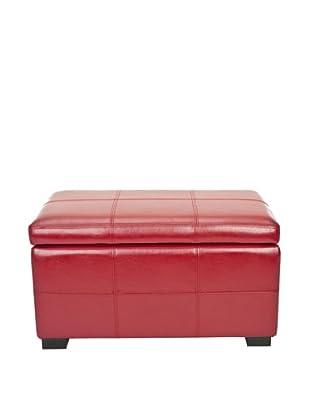 Safavieh Madison Storage Bench Small, Red