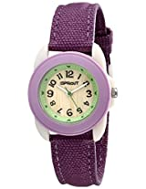 Sprout Unisex ST1011LVIVPR Eco-Friendly Corn Resin and Purple Organic Cotton Strap Watch