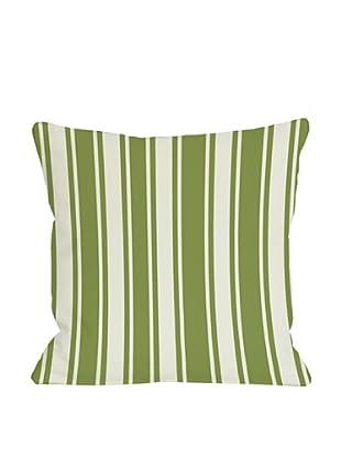 One Bella Casa Tri-Stripes 18x18 Outdoor Throw Pillow (Green)