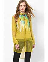 Georgette Olive Tunic Satya Paul
