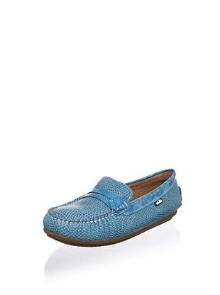 Venettini Kid's Savor Moc Loafer (Toddler/Little Kid/Big Kid) (Aqua Rep/Turqoise Brush Patent)