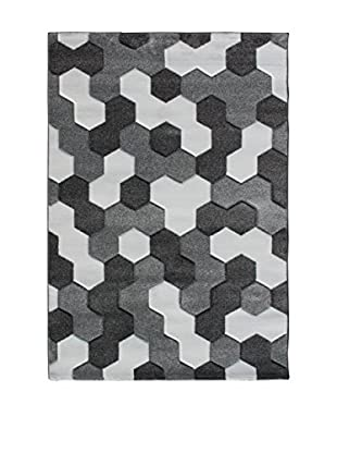 Contemporary Living Alfombra Mosaiko 190 cm Gris/Blanco
