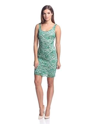 Alexia Admor Women's Caviar Beaded Scoop Back Dress (Emerald)