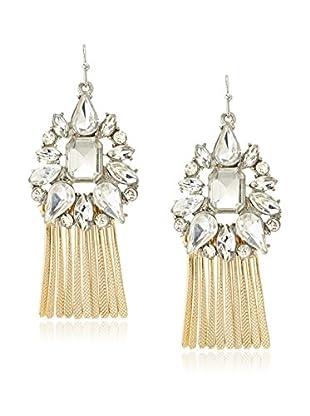 Stellar NYC Gold Fringe Crystal Earrings