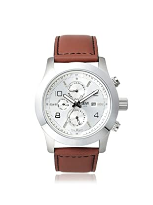 JBW Men's J6286C Brown/Silver Stainless Steel Watch