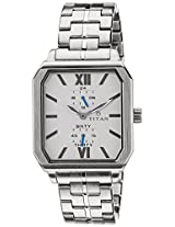 Titan Octane Analog White Dial Men's Watch - 1643SM01