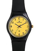 Maxima Fiber  Analog Gold Dial Men's Watch - 02071PPGW