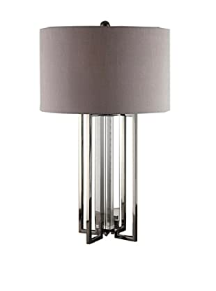 Greenwich Lighting Tensdale Table Lamp, Black Nickel/Crystal
