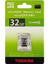 Toshiba 32GB Class 4 Micro SDHC Memory Card