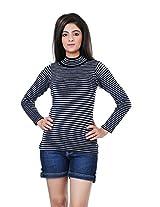 Renka Women's Knitted Winter Top (814_black_X Large)