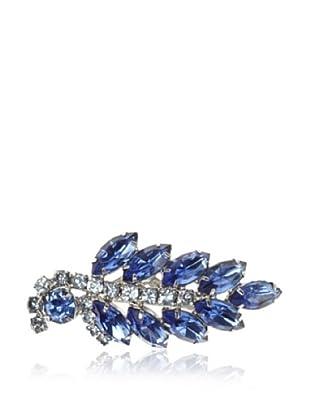 Lulu Frost 1920's Art Deco Blue Leaf Brooch