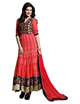 BEAUTIFUL AND CHARMING SONALI BENDRE Anarkali STYLE GEORGETTE SUIT AND DYED CHIFFON DUPATTA - HEROINE jd- 5016a