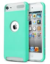 ULAK 339903 2-in-1 Protective Case for Apple iPod Touch 5 6th Generation (Aqua Mint/Clear)