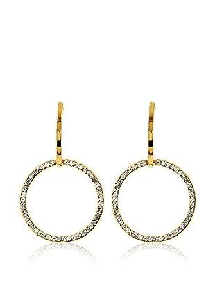 Fashion Victime Pendientes Circle Dorado