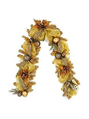 National Tree Company 6' Harvest Collection Brown Ribbon Garland