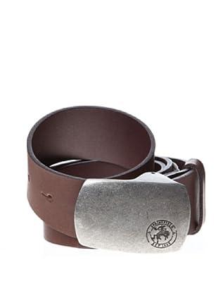 Springfield Cinturón Chapón Casual Piel (marrón oscuro)