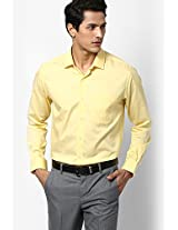 Yellow Full Sleeve Formal Shirts