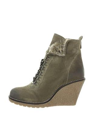 Buffalo London ES 10329 SUEDE 130912 - Botines fashion de cuero para mujer (Gris)