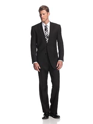 Martin Gordon Men's Basic Peak Lapel Suit (Black)