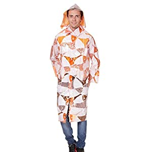 A S Orange Unisex Rain Coat adrw06