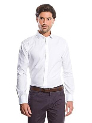 Cortefiel Camisa Oxford (Blanco)