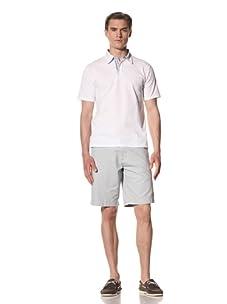 Report Collection Men's Pique Polo Shirt (White)