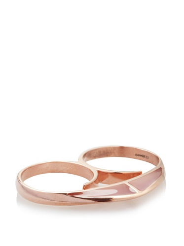 Katie Rowland Lilith Enamel Heart Ring (Baby Pink Candy)