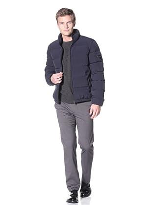 Prada Men's Nylon Bielastico Coat (Blue)