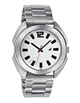Fastrack Casual Analog Silver White Dial Men's Watch - 3117SM01