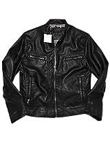 Calvin Klein Original Men's Coat Bomber Faux Leather Moto Jacket(multivalue)