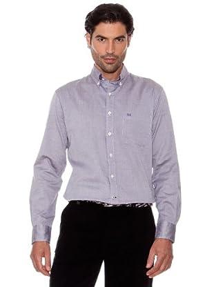 Pedro Del Hierro Camisa Oxford (marrón oscuro)