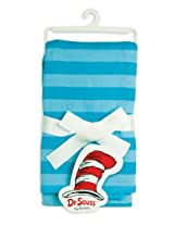 Bumkins Dr. Seuss Receiving Blanket, Blue Stripe