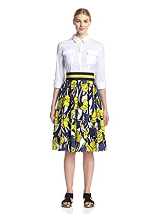 Beatrice B Women's Dress with Printed Skirt