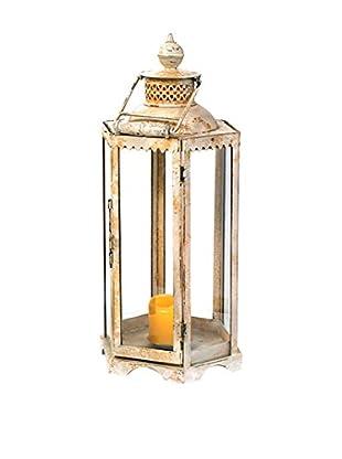 Go Home Antique White Iron Candle Lantern