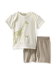 Lucky Jade Giraffe Tee/Short Set (Ivory)